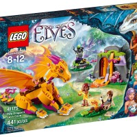 LEGO Elves 2016 Fire Dragon's Lava Cave 41175 Set Photos!