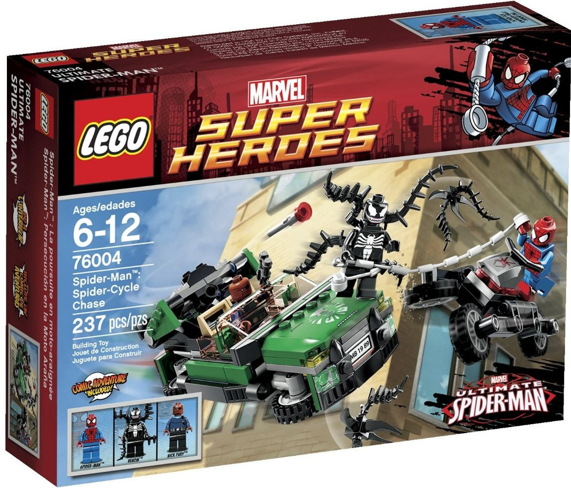 LEGO 76004 Spider-Man Spider Cycle Chase 2013 Set VenomLego Marvel Spider Man
