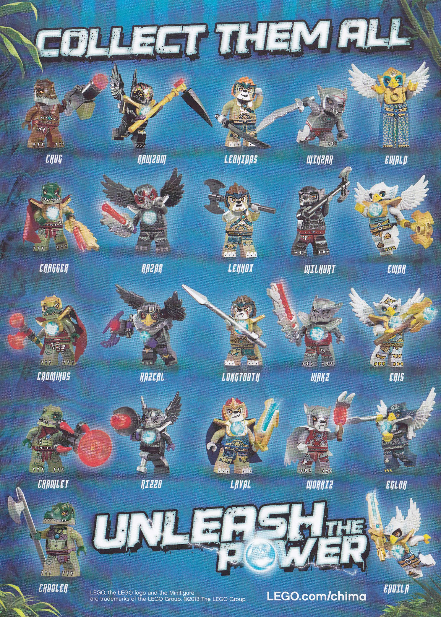 LEGO Legend of Chima Cartoon Series Premiere & Minifigures Names — 1