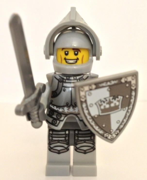 9 X 1 VISOR FOR THE HEROIC KNIGHT FROM SERIES 9 LEGO-MINIFIGURES SERIES