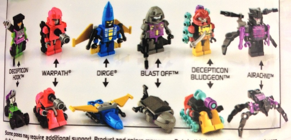 Transformers Kreons Micro-Changers Series 1 Figures Dirge Bludgeon Blast Off Airachnid