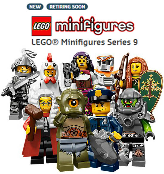 2013 LEGO Minifigures Series 9 Retiring Soon 71000