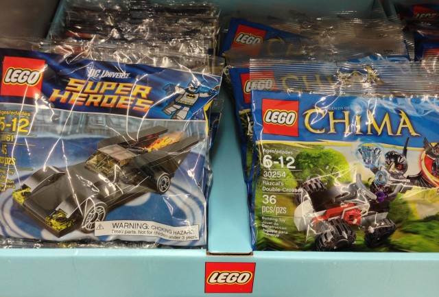 30254 LEGO Chima Razcal's Double-Crosser and 30161 LEGO Batmobile Polybags