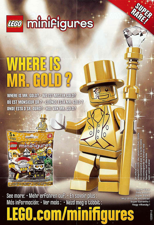 LEGO Minifigures Series 10 Where Is Mr Gold Insert