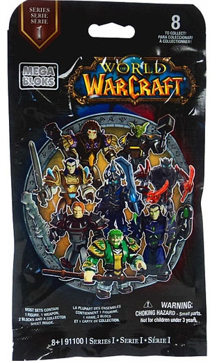 Mega Bloks Warcraft Series 1 Blind Bags Figures Packaging