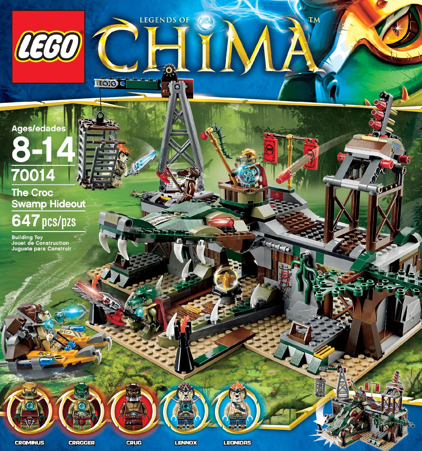 Lego Chima Croc Swamp Hideout 70014 Summer 2013 Set