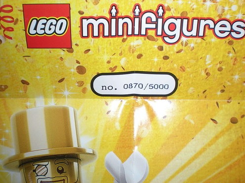 LEGO Minifigures Series 10 Mr. Gold Minifigure Certificate of Authenticity Number of 5000