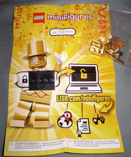 LEGO Mister Gold Minifigure Insert and Number of 5000