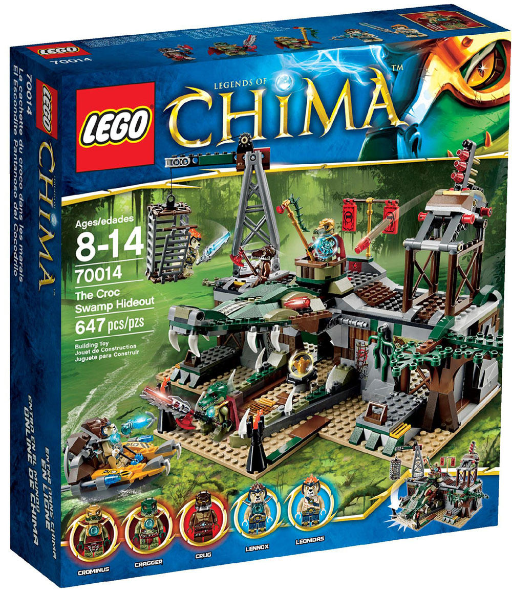 Lego Chima Croc Swamp Hideout 70014 Summer 2013 Set