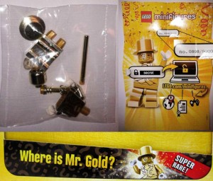 Mister Gold LEGO Minifigure In Packaging Limited to 5000 Made