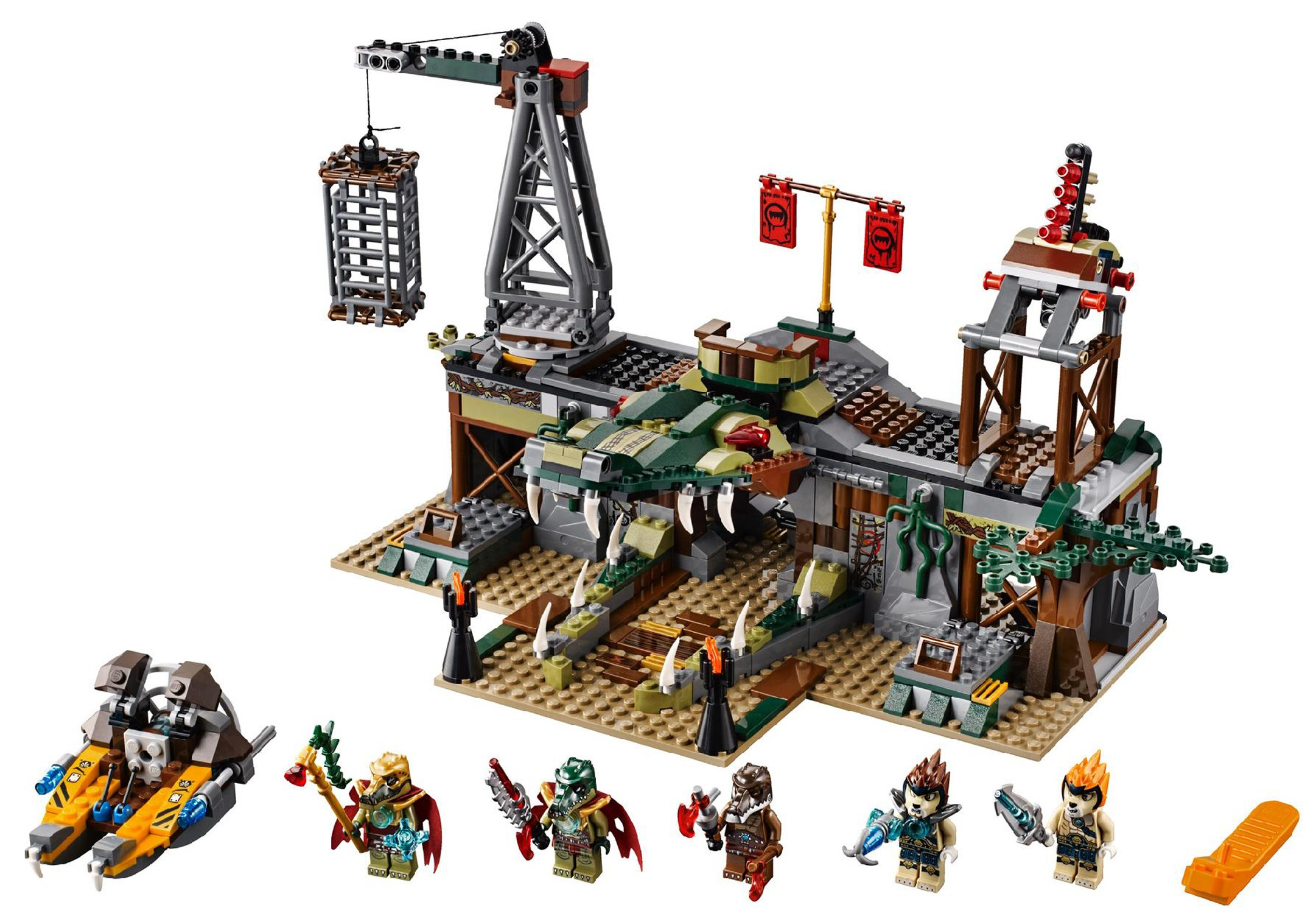 All Lego Toys : Lego chima croc swamp hideout summer set