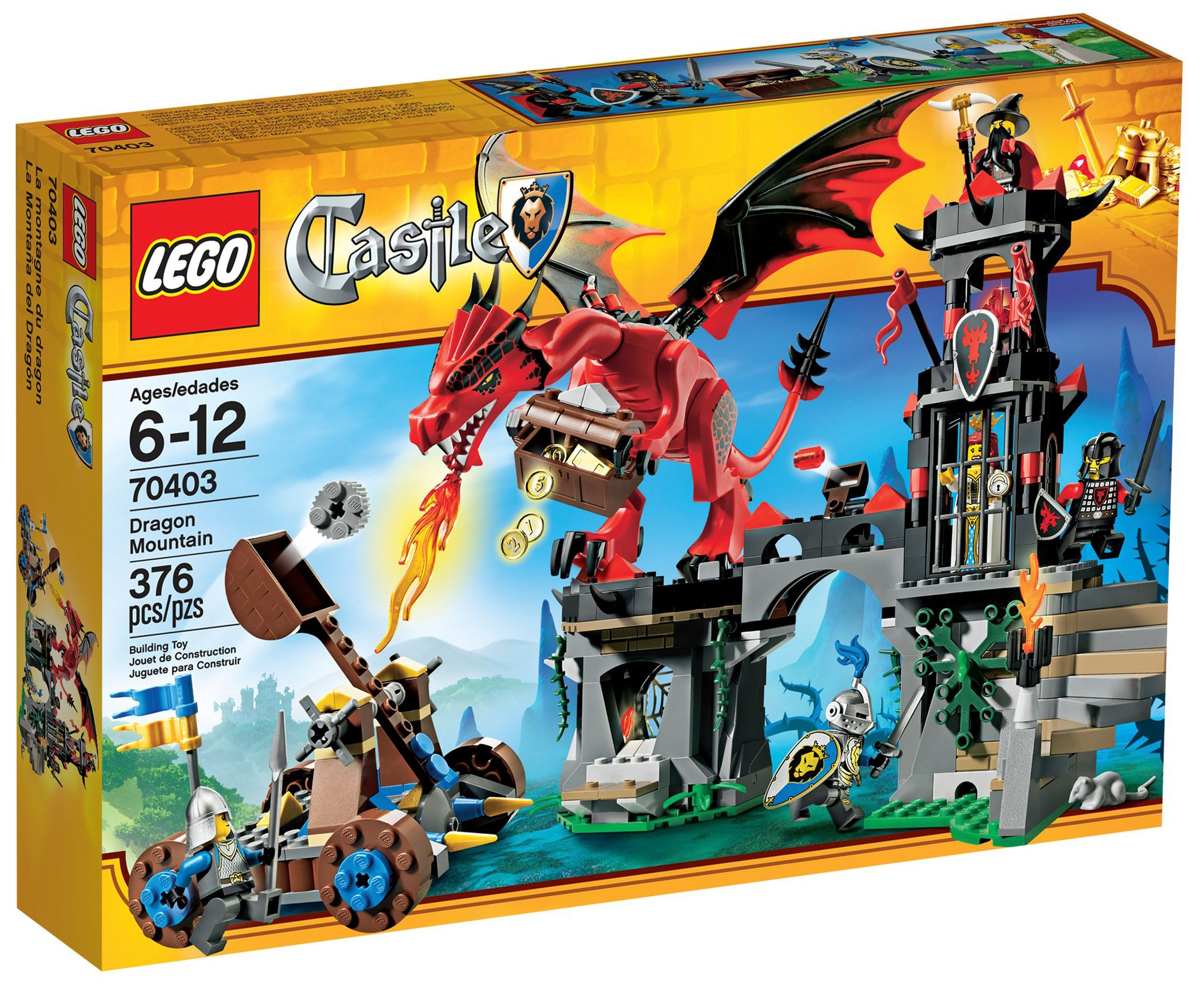 Lion Soldier Only LEGO Castle 70403 Dragon Mountain New Never Played