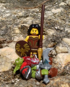 LEGO Minifigures Series 10 71001 Warrior Woman Minifigure with Spear and Shield
