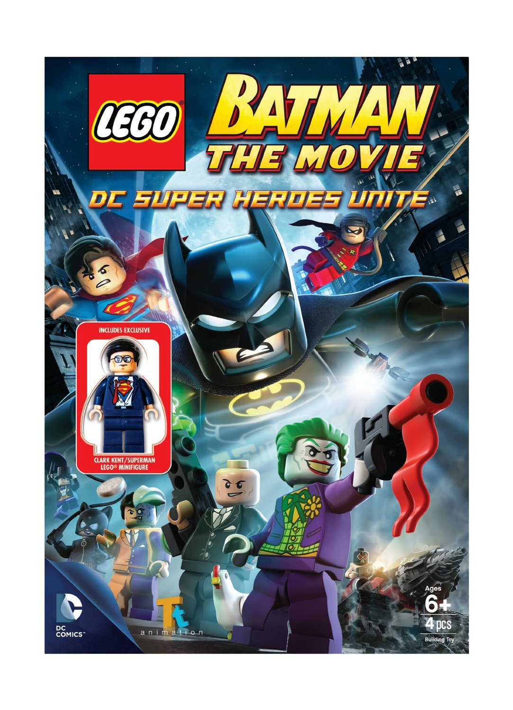LEGO Batman The Movie DVD/Blu-Ray & Clark Kent Minifigure ...
