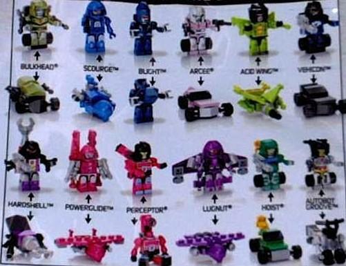 Transformers Kre O Series 2 Code Numbers List Micro