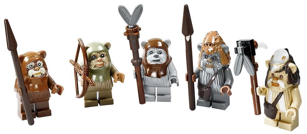 Lego star wars ewok minifigures from ewok village 10236 wicket logray