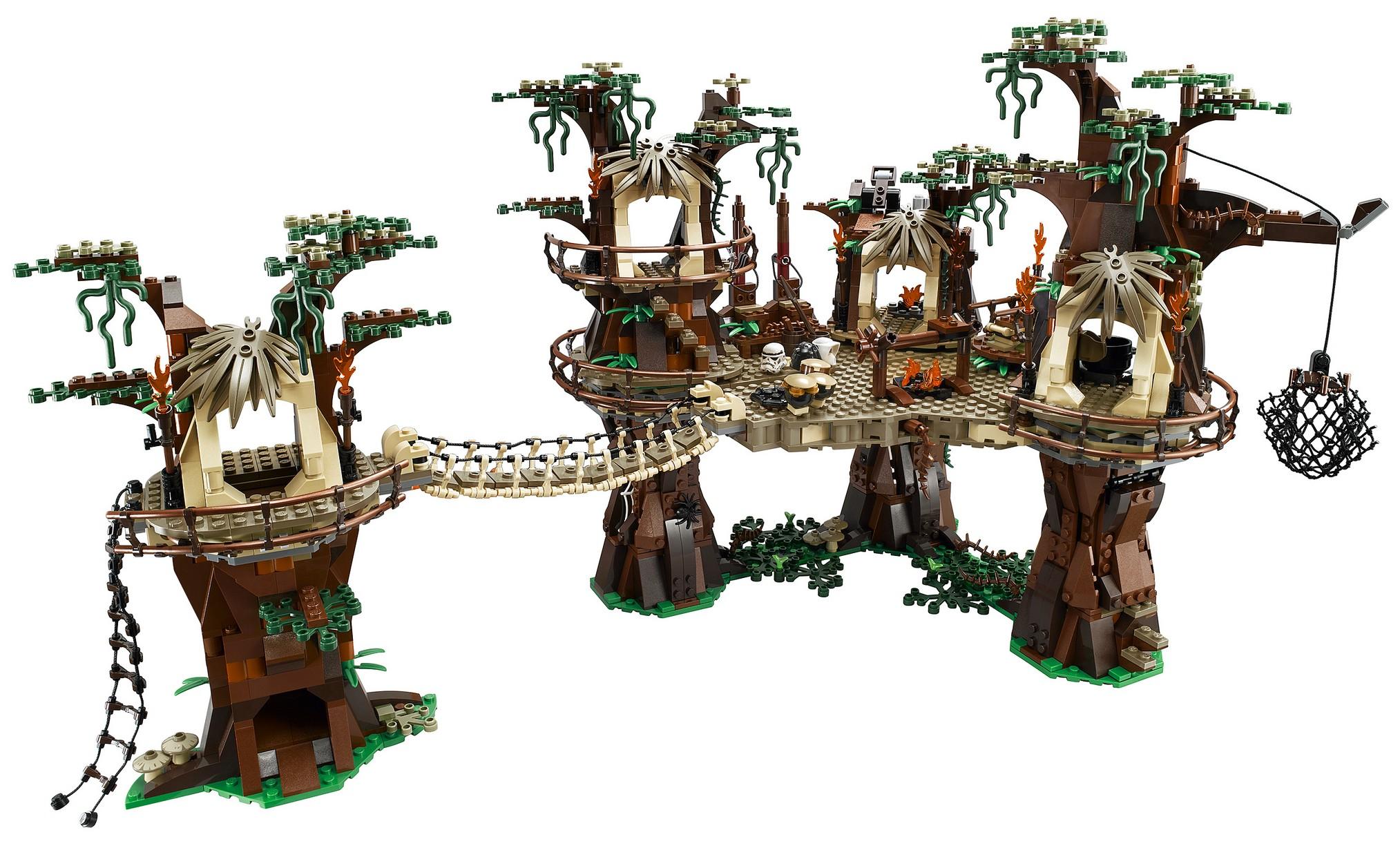 lego star wars ewok village 10236 fully revealed w video photos bricks and bloks. Black Bedroom Furniture Sets. Home Design Ideas