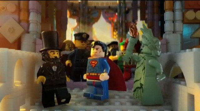 THE LEGO Movie Abe Lincoln Superman Statue of Liberty Screenshot