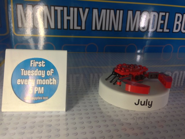LEGO Mini Model Build Crab July 2013 Photos