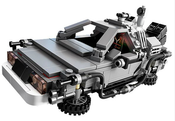 Lego Back To The Future Time Machine Delorean Set Up For