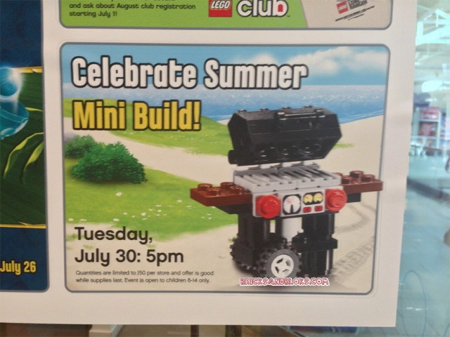 LEGO Mini Model Build Barbecue Grill June 2013