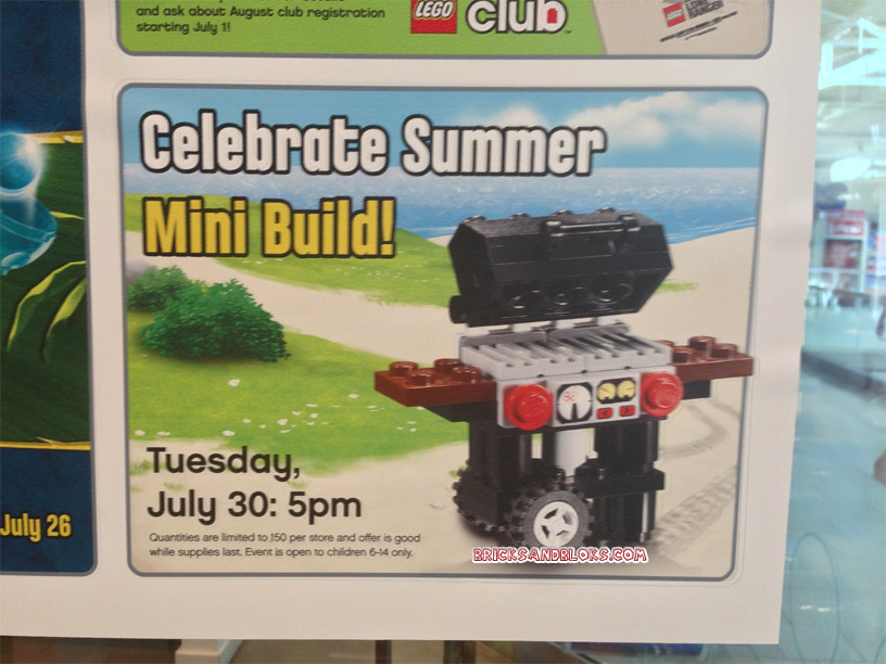 August 2013 Lego Monthly Mini Model Build Flamingo Bbq Grill