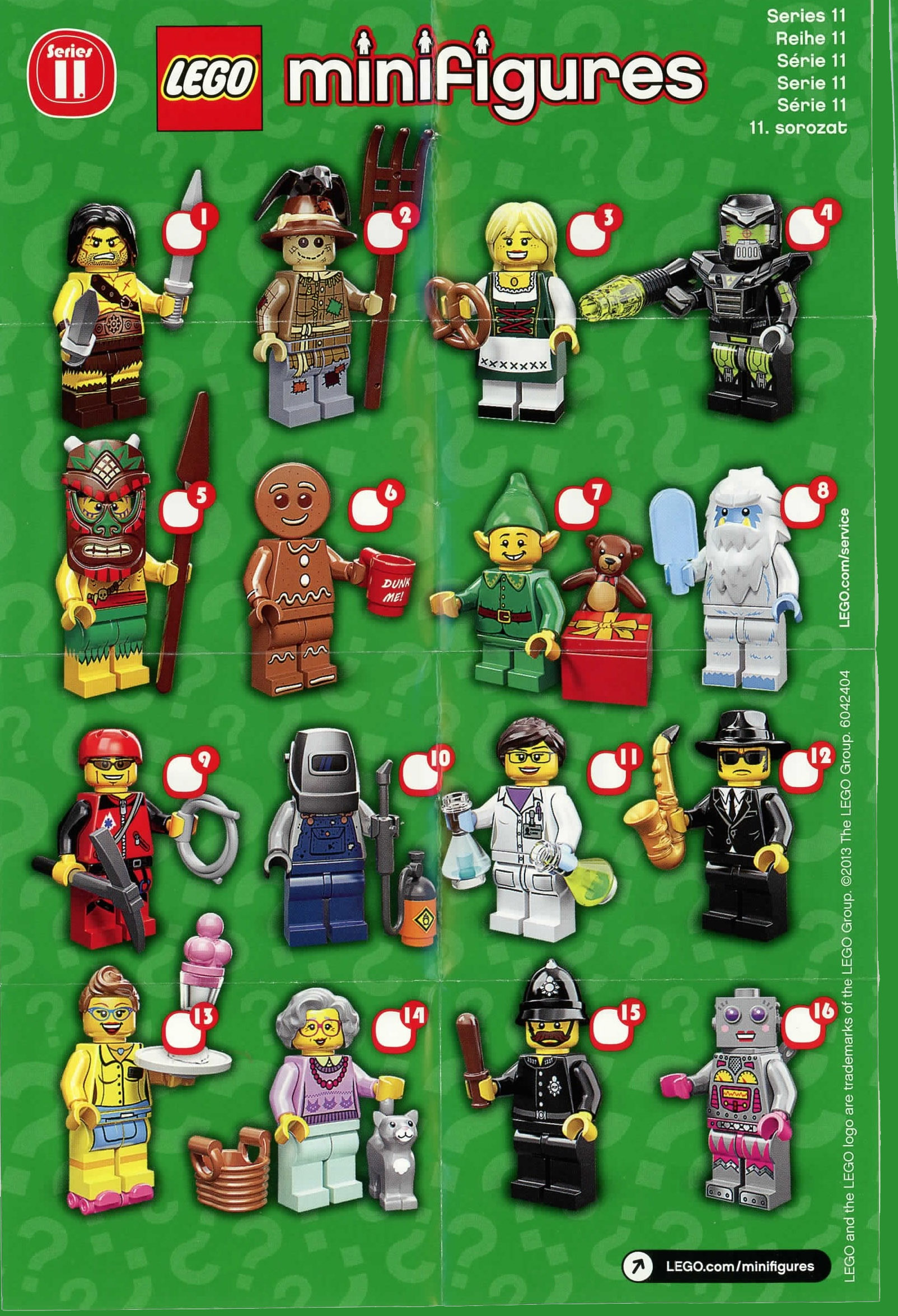 LEGO Minifigures Series 11 Figures Fully Revealed & Photos ...