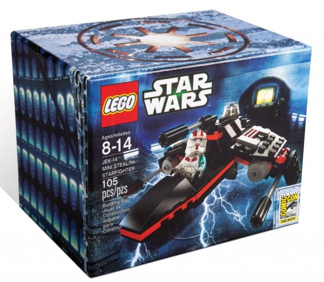 SDCC 2013 LEGO Star Wars Mini Jek-14 Stealth Starfighter