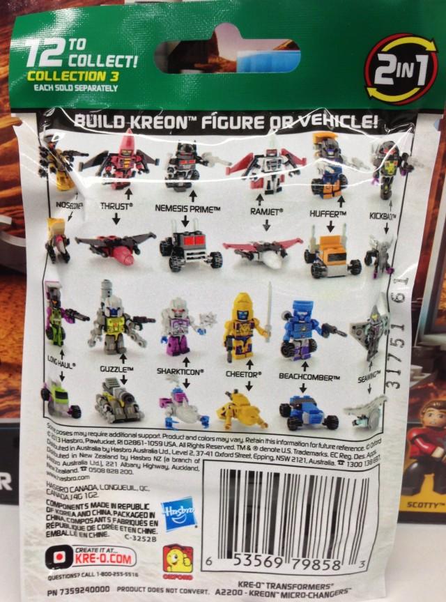 Kreo Transformers Series 3 Figures Codes Number List