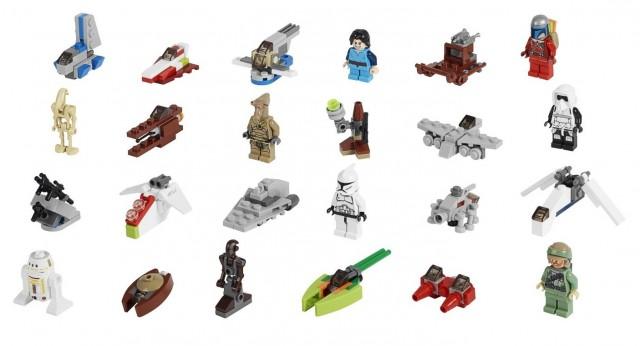 LEGO Star Wars 2013 Advent Calendar Contents