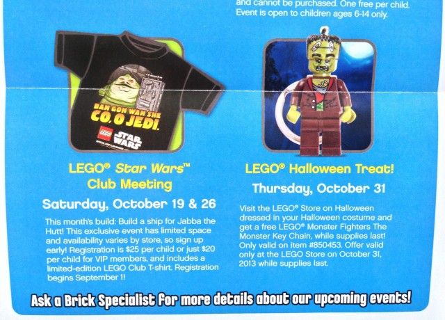 LEGO Star Wars Club Meeting T-Shirt October 2013