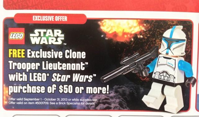 LEGO Star Wars Clone Trooper Lieutenant Minifigure Offer 2013
