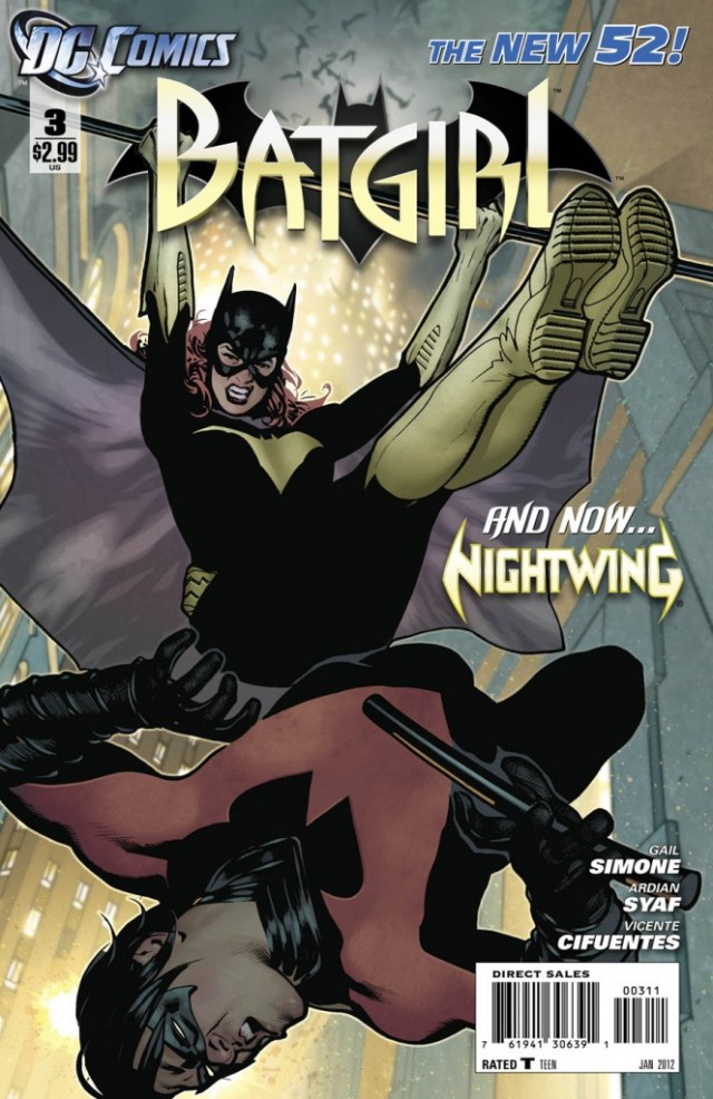 DC New 52 Batgirl #3 Cover DC Comics Comic Book 2011