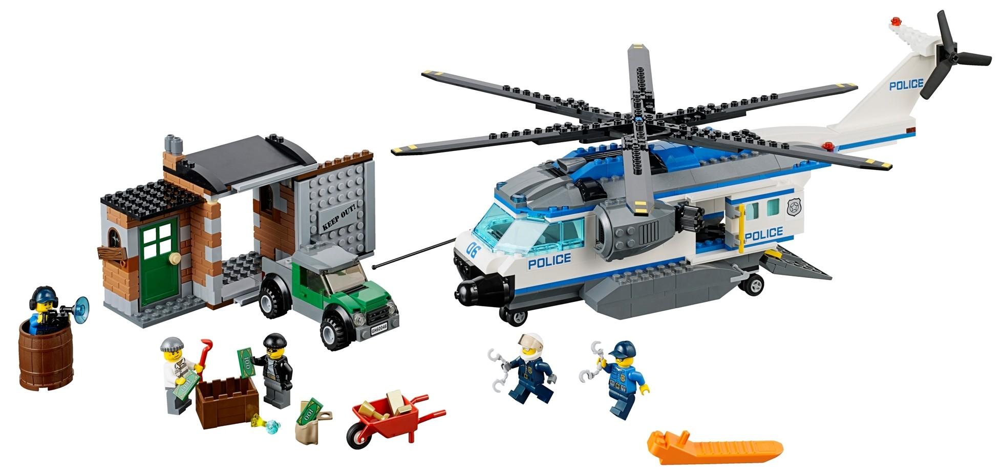 2014 LEGO City Helicopter Surveillance 60046 Set Photos & Preview