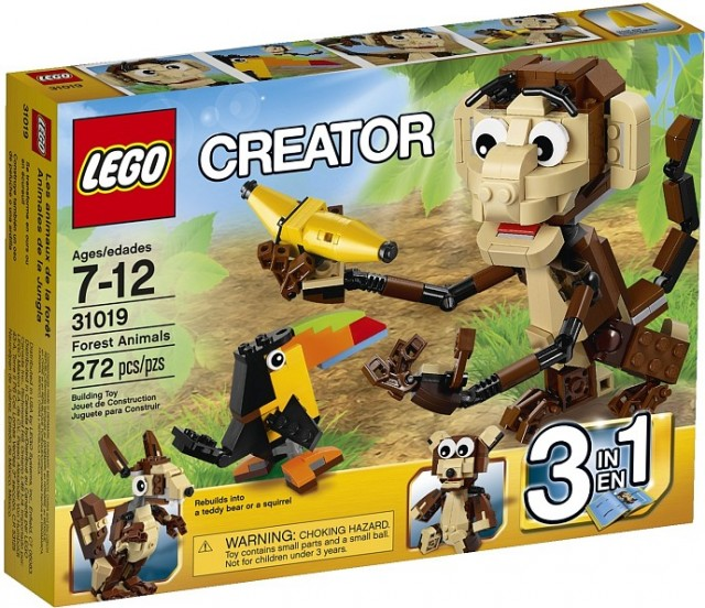 2014 LEGO Creator Forest Animals 31019 Set Box