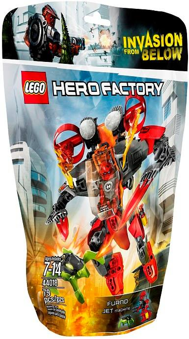 2014 LEGO Hero Factory Furno Jet Machine 44018 Package