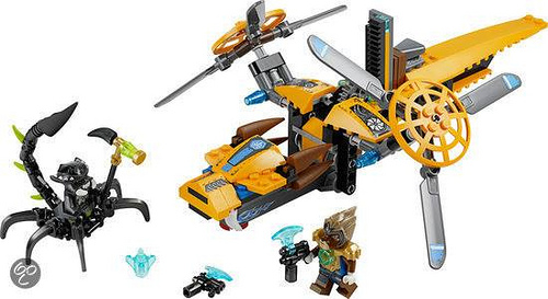 2014 LEGO Legends of Chima 70129 Lavertus Twin Blade Set