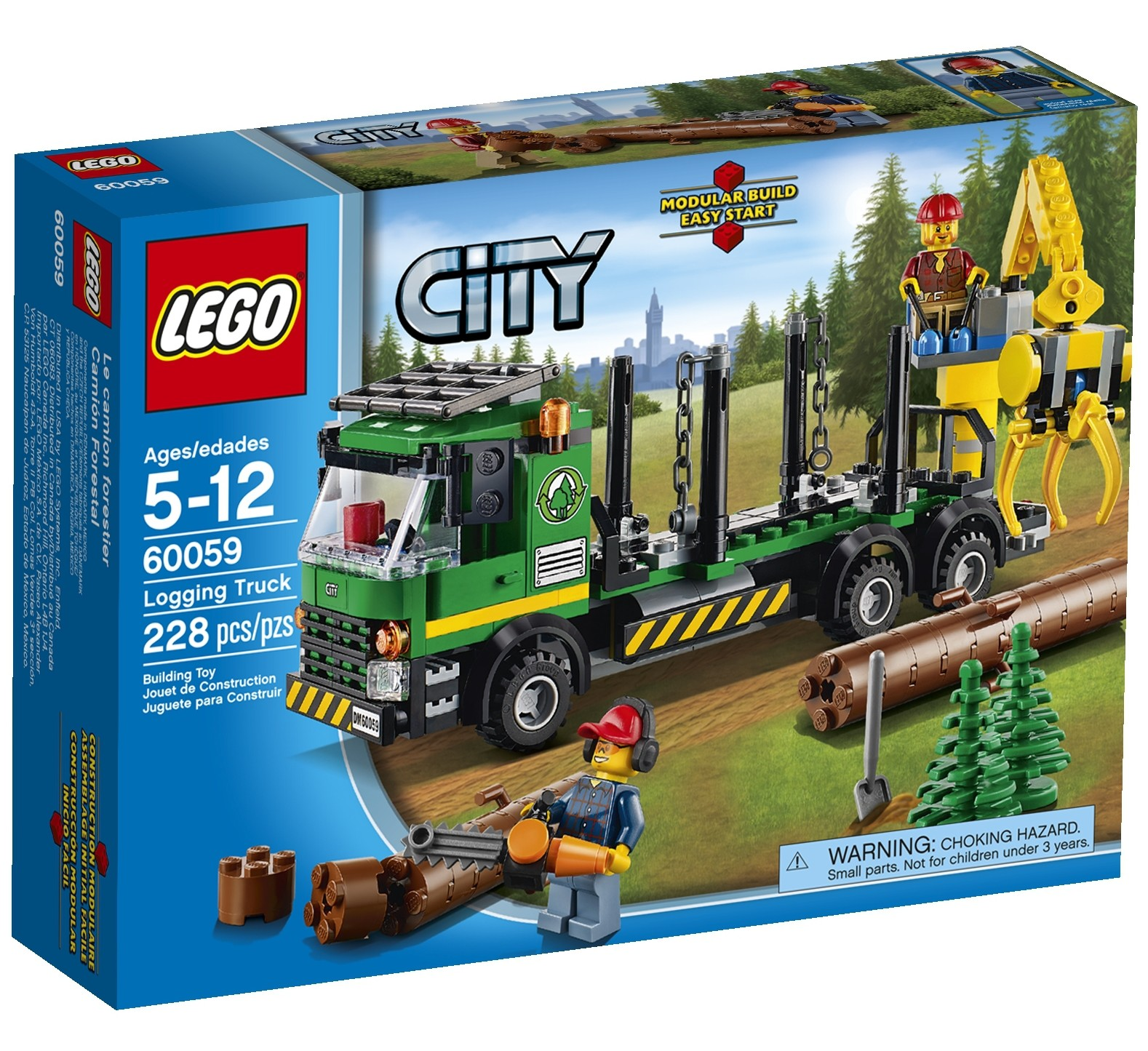 lego city logging truck 60059 winter 2014 set photos preview bricks and bloks. Black Bedroom Furniture Sets. Home Design Ideas