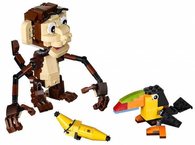 LEGO Forest Animals 31019 Winter 2014 Set LEGO Monkey and Toucan