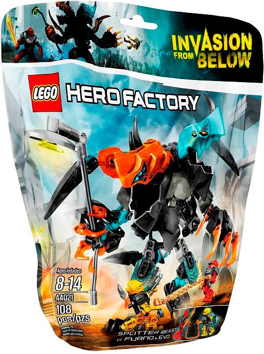 LEGO Hero Factory Spllitter Beast vs. Furno & Evo 44021 Packaging