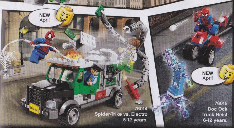 Contains: LEGO Spider-Man Minifigure and LEGO Electro Minifigure