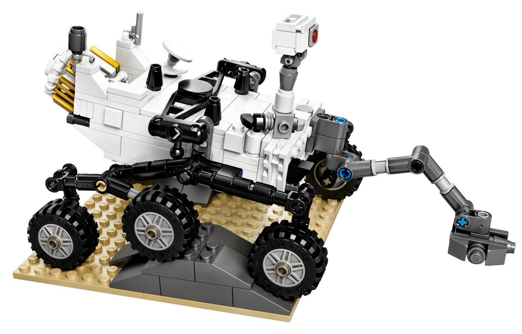 2014 LEGO NASA Mars Science Laboratory Curiosity Rover ...