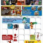 February 2014 LEGO Store Calendar! LEGO Piece of Resistance Promo!