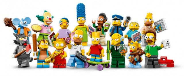 LEGO Simpsons Minifigures Series 71005 Lineup Logo