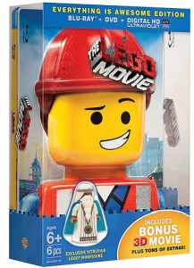 The LEGO Movie Everything is Awesome Edition Blu Ray DVD Set with Exclusive Vitruvius Minifigure