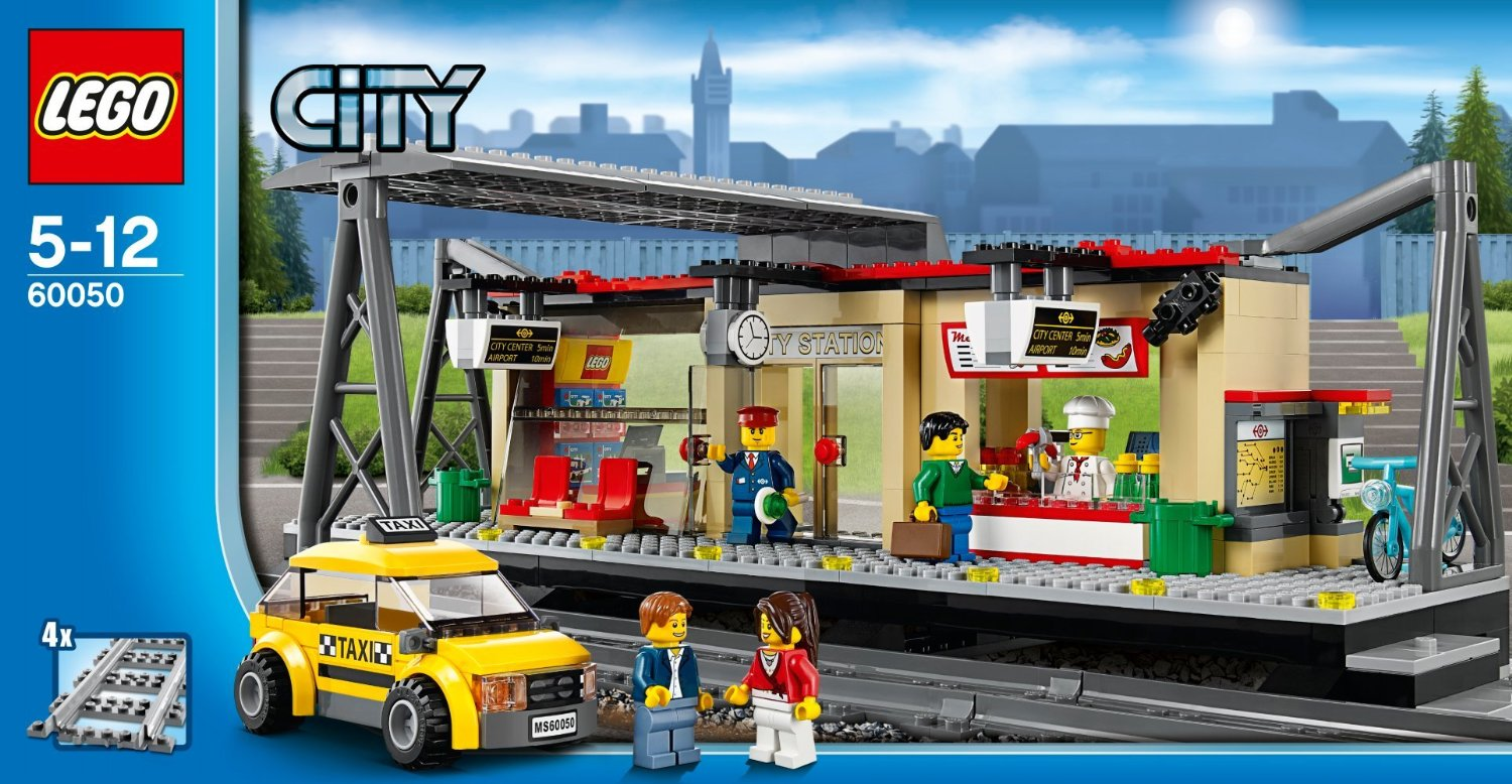 lego city train station 60050 summer 2014 set photos. Black Bedroom Furniture Sets. Home Design Ideas