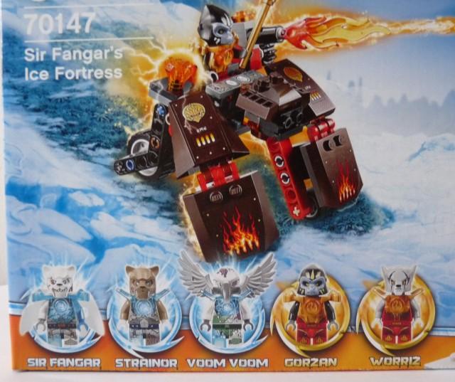 70147 LEGO Sir Fangar's Ice Fortress Minifigures Strainor Voom Voom Gorzan Figures
