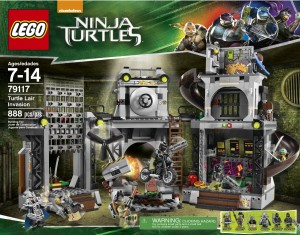 Ninja Turtles Movie LEGO Turtle Lair Invasion 79117 Box Front