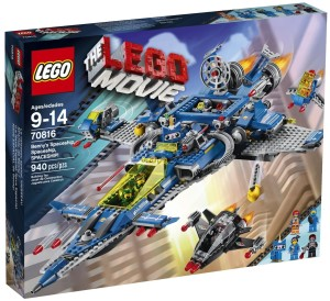 The LEGO Movie Benny's Spaceship Spaceship SPACESHIP 70816 Box