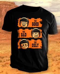 The LEGO Movie Good Cop Bad Cop T-Shirt Teefury 2014